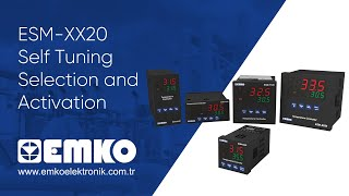 Emko Elektronik ESM-XX20 Self Tuning Selection and Activation