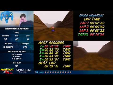 Choco Mountain SC 3lap World Record - 16.38 (NTSC)