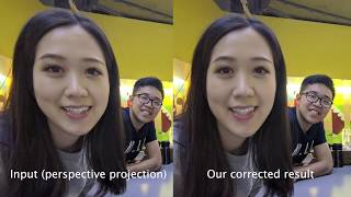 SIGGRAPH 2019: Distortion-Free Wide-Angle Portraits on Camera Phones
