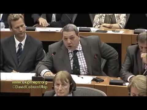 UKIP MEP David Coburn questions Jean-Claude Juncker on EU membership for an independent Scotland