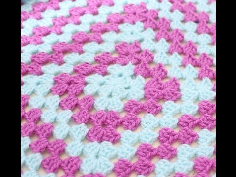 CROCHET: How to crochet a granny square for beginners