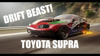 DRIFT BEAST Toyota Supra JDM  by RP.DESIGN