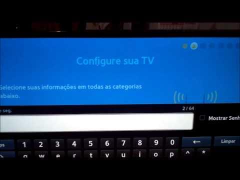 SAMSUNG LED TV UN40F5500  40 pol - Unboxing - Primeiras Impressões - Configuração Inicial - Wiifi