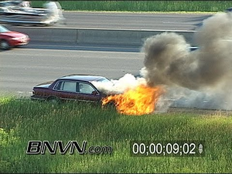 6/22/2005 Generic Car Fire Footage on Interstate 35W