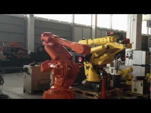 Used robot ABB industrial robot IRB6400 M98 with S4C controller at eurobots