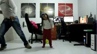 Mila and her Crazy Father Dance The Harlem Shake