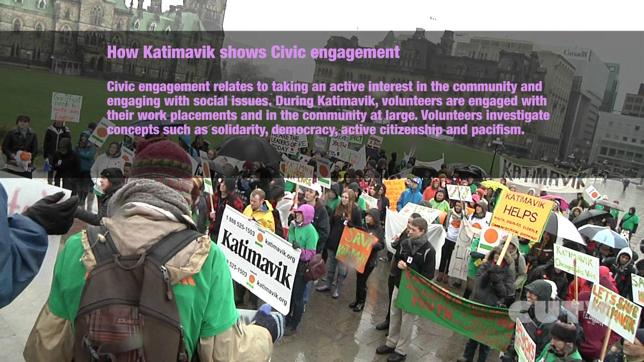Katimavik Protest on Parliament Hill in Ottawa