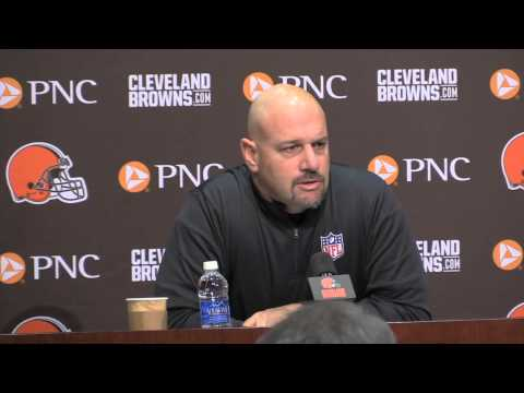 Mike Pettine talks about trading up in the draft