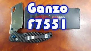 Ganzo F7551 Review - A really nice Budget Cleaver!