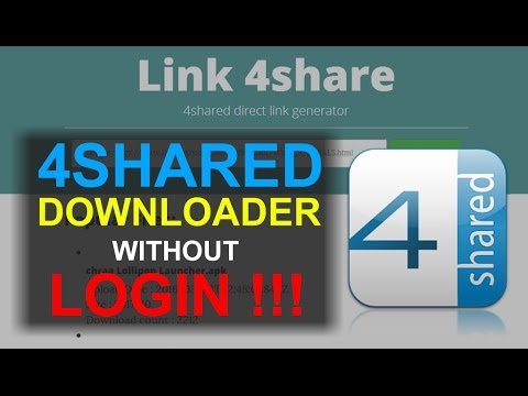 How To Get Premium High Speed Download from 4Shared without Login 2017 100% Work