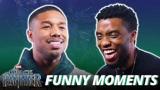 Chadwick Boseman & Michael B. Jordan - Funny Moments (Black Panther)