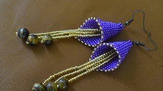 "Серьги из бисера ""Колокольчик"".  Бисероплетение.  Мастер класс / Earrings from beads. Beading."