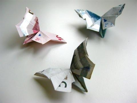 diy origami geldschein schmetterling youtube. Black Bedroom Furniture Sets. Home Design Ideas
