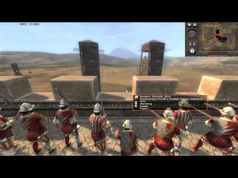 Medieval 2 Total War Online Battle # 12 (3v2 Siege)-