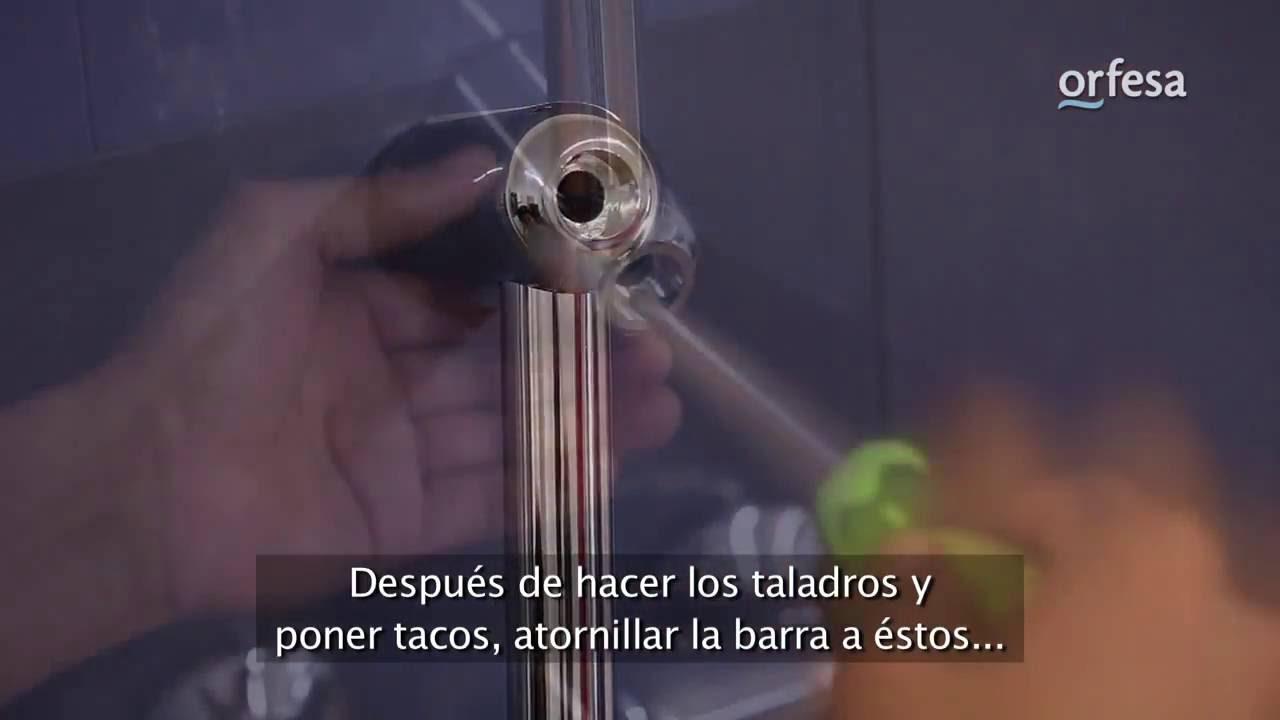 Instalaci n de barra de ducha youtube for Duchas grival colombia