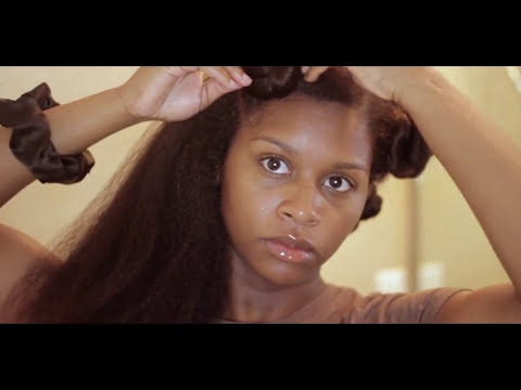 Twistout on Blown Out Hair