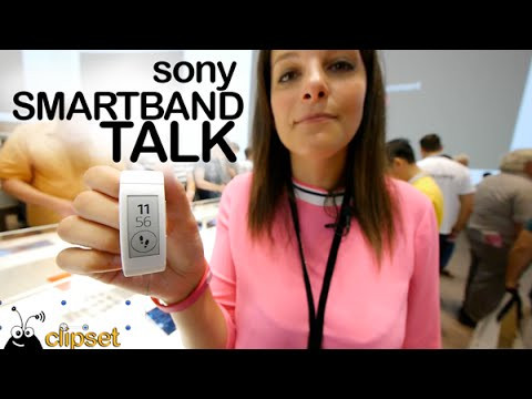 Sony SmartBand Talk preview IFA Videorama
