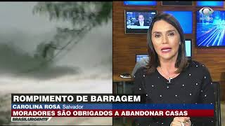 Moradores abandonam casas após barragem se romper