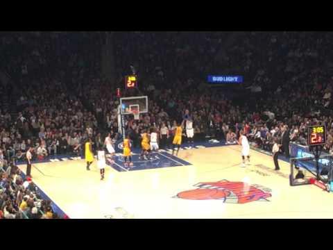 Carmelo jumper Knicks vs Cavs at MSG