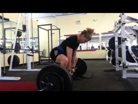 16 Year Old Cynthia Welden Deadlifts 295 x 8