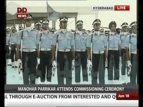 Defence Minister Manohar Parrikar attends Commissioning Ceremony