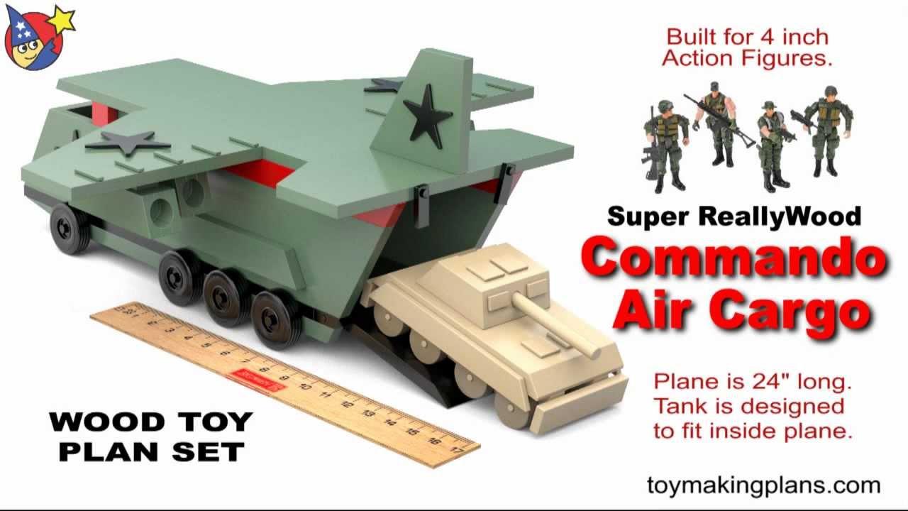 Wood Toy Plans - Big Air Cargo Plane - YouTube