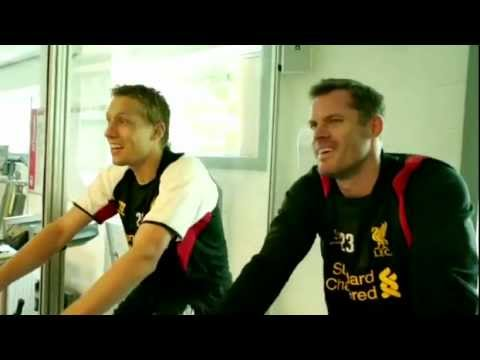 Being: Liverpool - Jamie Carragher and Lucas Leiva pull-up challenge