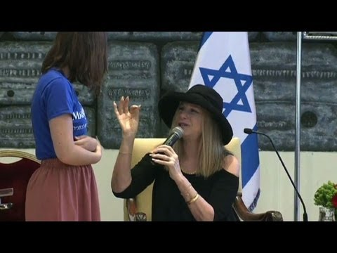 Israel's president and Streisand make a wish come true