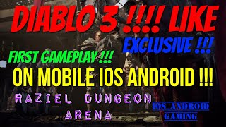 Best Diablo 3 Game On Mobile !!! High Graphic !!! Available now for Ios And Android !!! Raziel !!!