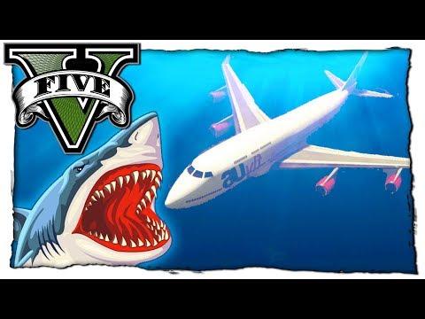 GTA 5 МОДЫ: Эксперимент Сможет Ли Самолет Летать Под Водой! Видео Обзор Мода Игры ГТА 5 Mods