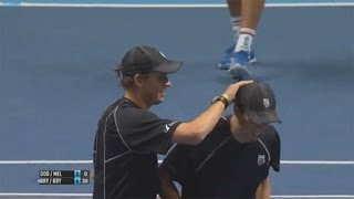 Watch Bob Bryan Hit Mike Bryan On The Head With A Serve
