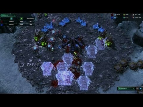 StarCraft II: Heart of the Swarm 1X1 PVZ