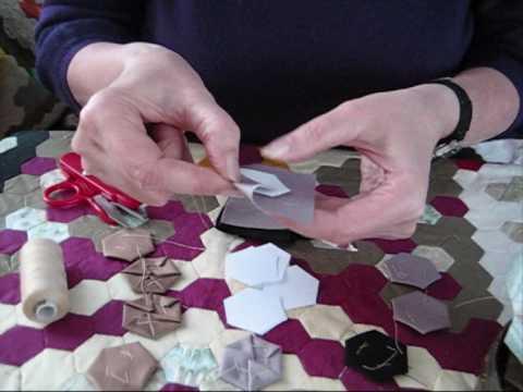 1 Traditional English Hexagon Patchwork Demonstration