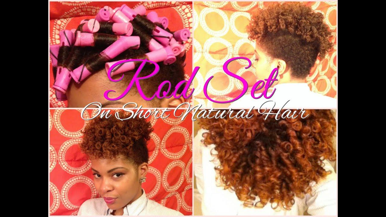 Perm Rod Set Tutorial on Short Natural Hair | TWA - YouTube