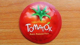 Видео - Обзор Tony Moly Tomatox Magic White Massage Pack пробник корейской косметики