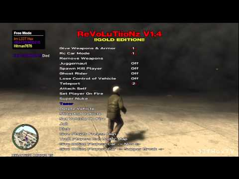 ReVoLuTiioNz v1.4 Mod Menu - GTA IV - ISO Mod - XBOX 360