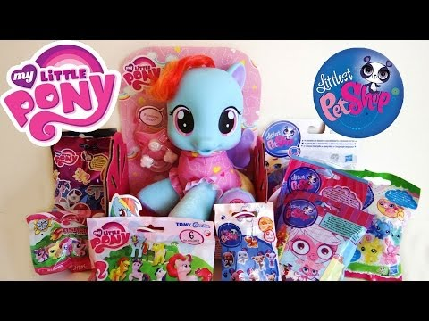 My Little Pony & Littlest Pet Shop blind Bags + Rainbow Dash So Soft Newborn