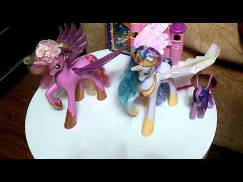 MLP -Подарок новой пони принцесса Селестия которий розговоривает англискам серия 1