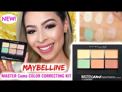 NEW! MAYBELLINE MASTER Camo COLOR CORRECTING KIT REVIEW