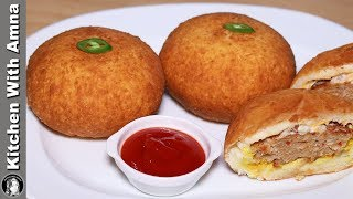 Fry Burger (Dawat e Iftar) Recipe by Kitchen With Amna