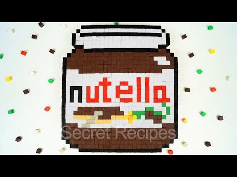 ТОРТ МАЙНКРАФТ НУТЕЛЛА. КАК СДЕЛАТЬ ТОРТ NUTELLA В СТИЛЕ MINECRAFT ИЗ ШОКОЛАДА | MINECRAFT NUTELLA