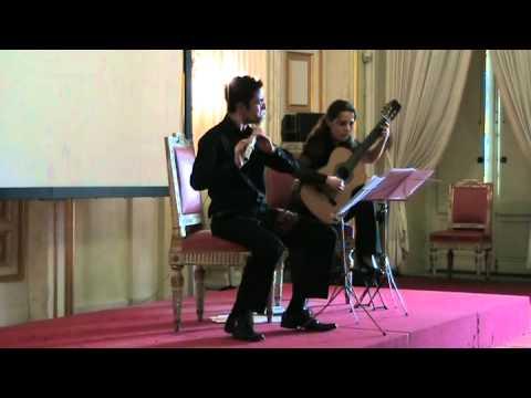 Federico Vallerga flauto - Molino, Duo n° 3 per flauto e chitarra, 2° mov.