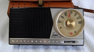 1956 Westinghouse model H-588P7 transistor radio (their first!)