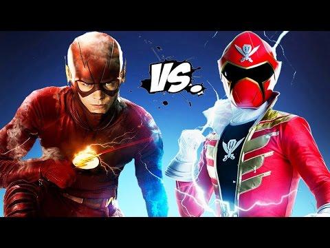 The Flash vs Red Super MegaForce (Power Ranger)