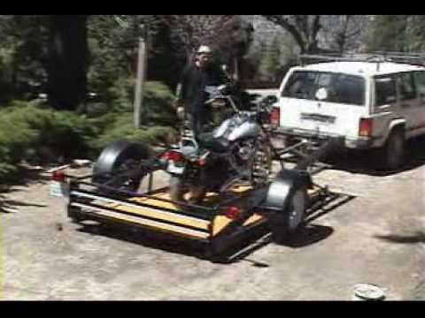 Motorcycle-Chopper-Snowmobile-ATV-Utility Trailer Level Ground loader Video