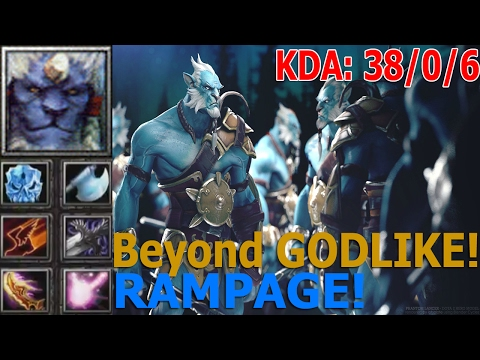 Dota 1 БЕССМЕРТНЫЙ! Phantom Lancer - Beyond GODLIKE (RAMPAGE) 38-0