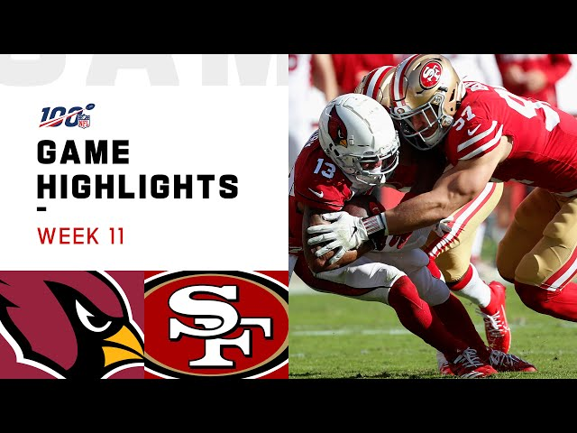 Cardinals vs. 49ers Week 11 Highlights  NFL 2019