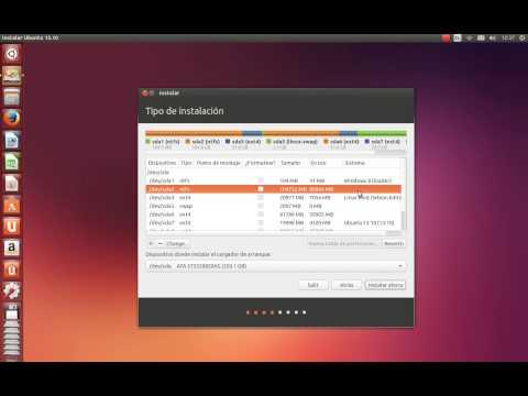 Instalar Ubuntu 13.10 junto a Windows 8.1 en Español