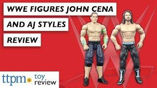 WWE Sound Slammers John Cena and AJ Styles from Mattel