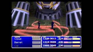 Final Fantasy VII (PSX) All Bosses Battles